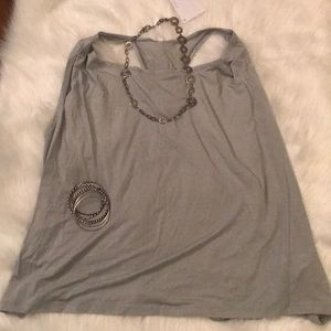 Fabletics Angelina tank gray 2XL Racerback yoga